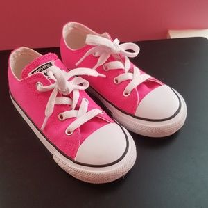 Hot Pink Converse - Toddler Girl Shoes